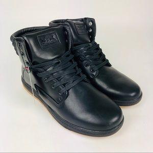 Levis Fletcher II Burnish Black High Top Sneaker 8